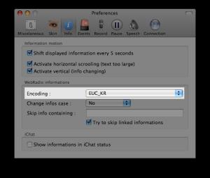 FStream Preference - Encoding
