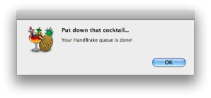HandBrake Screenshot - Queue is Done