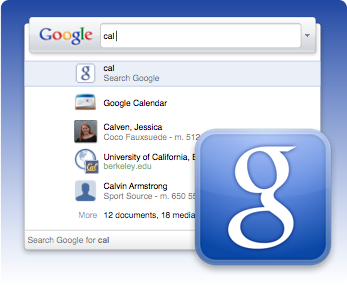 Google Quick Search Box Screenshot
