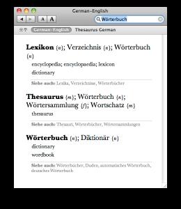 BeoLingus Deutsch-Englisch Screenshot