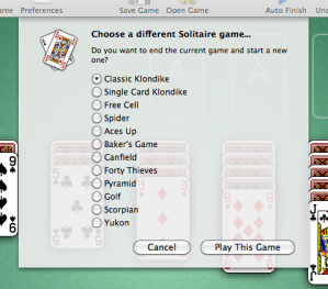 Solitare Greatest Hits 2.0 Choose Game Screenshot