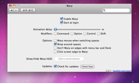Warp 1.2.1 Preference