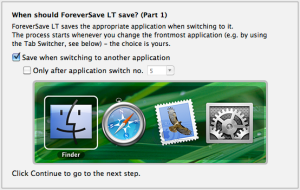 ForeverSave Lite 1.1 Preference 1 Screenshot