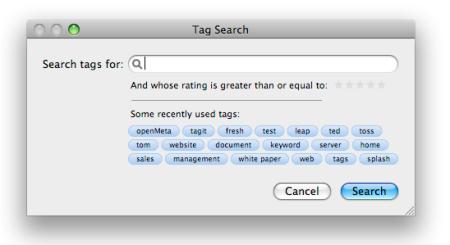 Tagit Search Screen