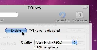 TVShows 0.4.3 Preferene Enable Screenshot Crop