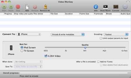 Video Monkey 0.5 Screenshot