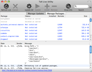 TeX Live Utility 0.74 Screenshot