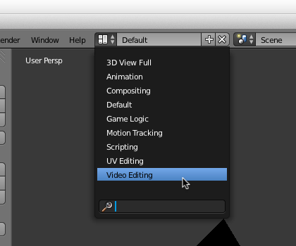 Blender Video Editing Select