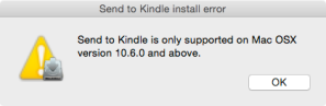 Send to Kindle Error