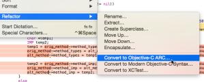 xcode refactor arc