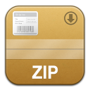 The Unarchiver Flurry Zip Replacement Icon