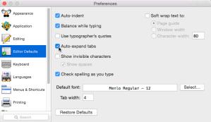 TextWrangler 4.5 Auto-expand tabs